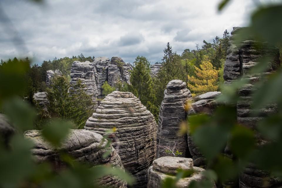 Prachovské skály Rocks Bohemian Paradise walking self-guided trek tour
