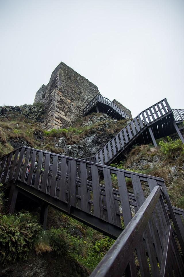 Ruins of castle Trosky bohemian paradise
